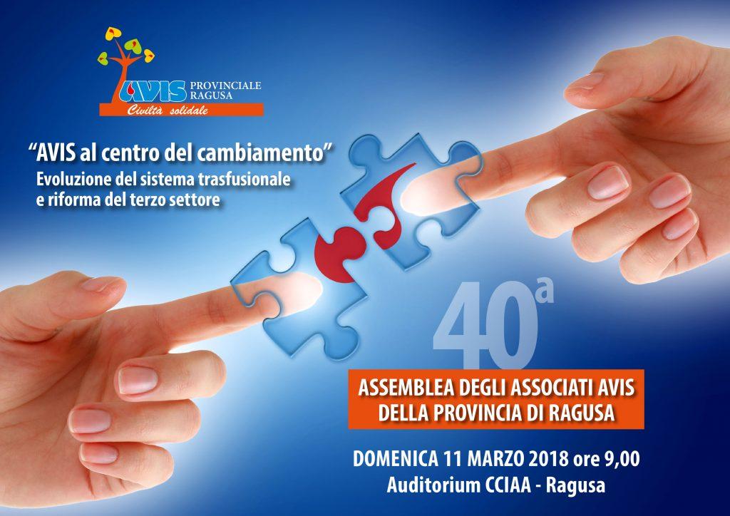40^ Assemblea annuale dei soci Avis Provinciale Ragusa