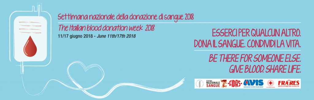 World Blood Donor Day, 14 giugno 2018