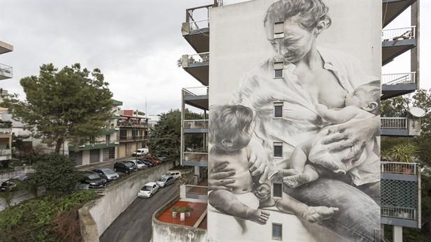 Inaugurazione opera murale di Guido Van Helten